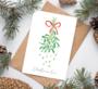 POSTIKORTTI, CHRISTMAS LOVE (MISTELI)