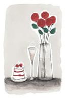 KORTTI, Ruusut pun, valmistuneelle, 2-osainen
