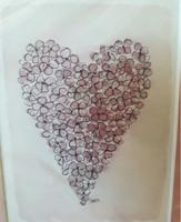 KIRJA, hortensiasydän, vaaleanpunainen