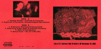 Carcass ‎– Live At St. George´s Hall, Bradford, UK November 15th 1989 (käytetty)