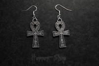 Ankh Earrings, decorative