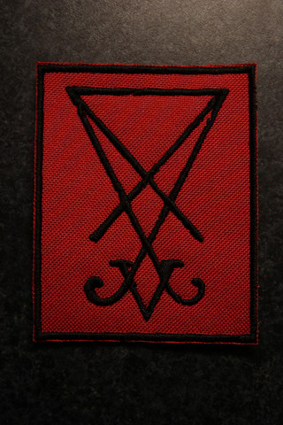 Sigil of Lucifer - red (patch)