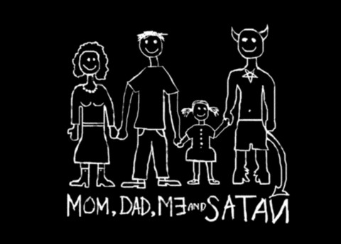 Mom, Dad, Me and Satan Postcard set 5pc.