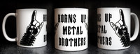 Horns Up Metal Brothers Mug