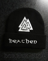 Heathen winter cap with Valknut