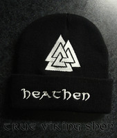 Heathen Winter beanie with valknut