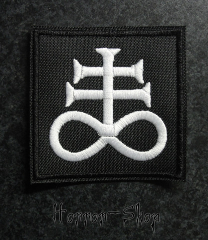 Satanic cross patch