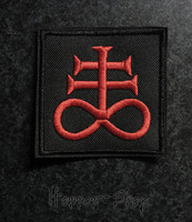 Satanic cross patch, punainen