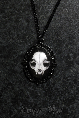Cat Skull Cameo, small