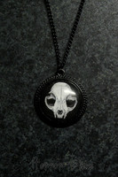 Cat Skull necklace, round
