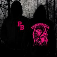 Psychobella hoodie with ziper