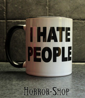 I hate people -mug
