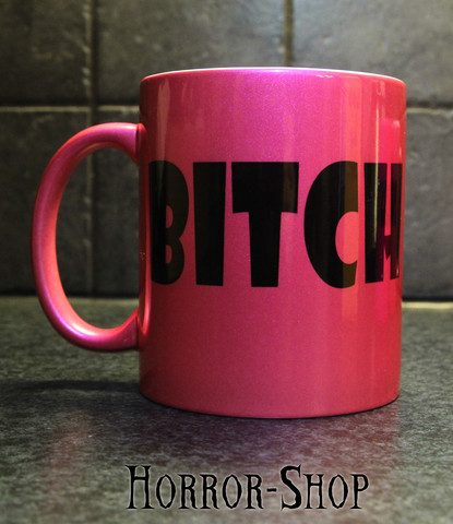 Metal pink BITCH -mug