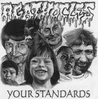 Agathocles / Kuolema ‎– Your Standards / Kuolema LP 7'' (käytetty)