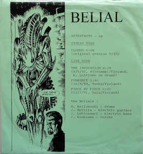 Belial ‎– Aftertaste LP 7'' (used)