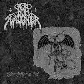 NunSlaughter / Krieg ‎– Satan Shitting On Cunt / Flesh Descending LP 7'' (used)