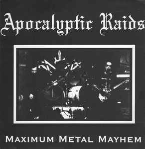 Apocalyptic Raids / Gravewürm ‎– Maximum Metal Mayhem / On The Wings Of Death LP 7'' (käytetty)
