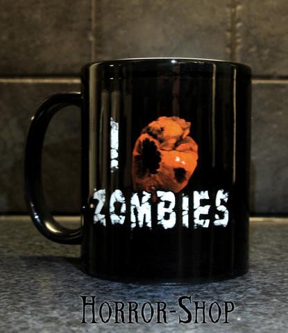 I Love Zombies -mug