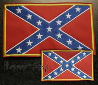 Rebel lippu -kangasmerkki (iso)