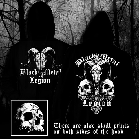 Black Metal Legion (hoodie with zipper)