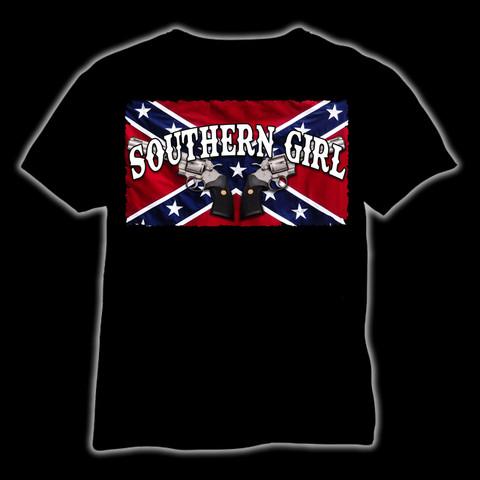 Southern Girl, black (T-shirt, Ladyfit & Tanktop)