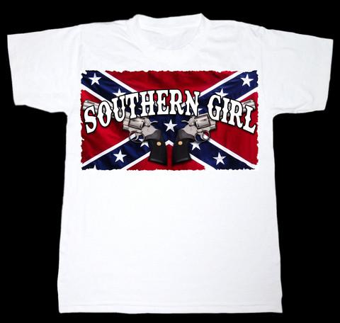 Southern Girl, White (T-shirt, Ladyfit & Tanktop)
