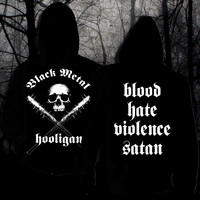 Black Metal Hooligan (hoodie with zipper)