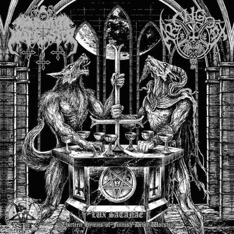 Satanic Warmaster / Archgoat - Lux Satanae (Thirteen Hymns Finnish Devil Worship) (LP, New)