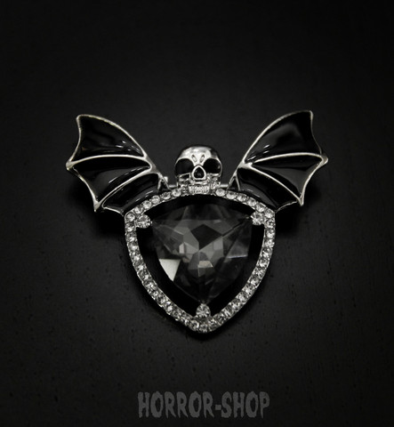 Vampire brooch, black