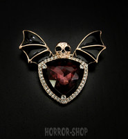 Vampire brooch, red stone