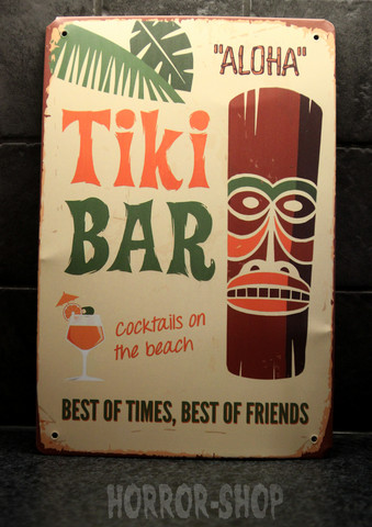 Tiki bar aloha, tin sign