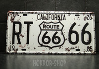 California registeation plate, tin sign