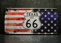 Texas registeation plate, tin sign