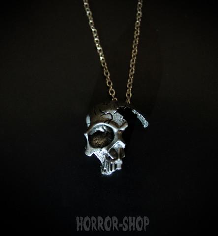 Broken skull  Necklace