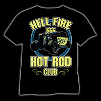 Hell Fire 666 Hot Rod Club, t-shirt and ladyfit
