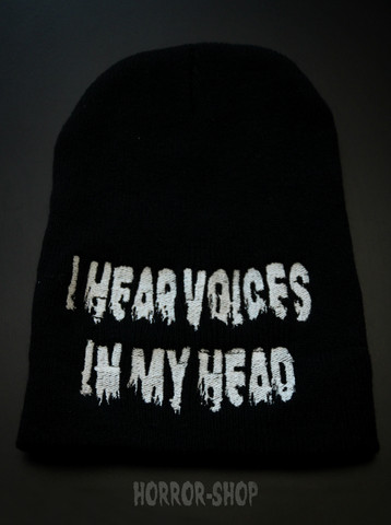 I hear voices in my head -beanie