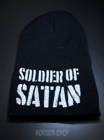 Soldier of Satan, black with white embroydery