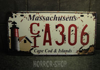 Massachusetts registeation plate, tin sign