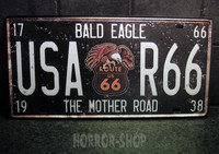 Bald Eagle registeation plate, tin sign