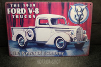 Ford V-8, tin sign
