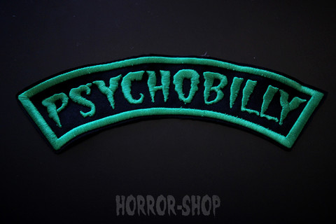 Psychobilly, green arch patch (big one)