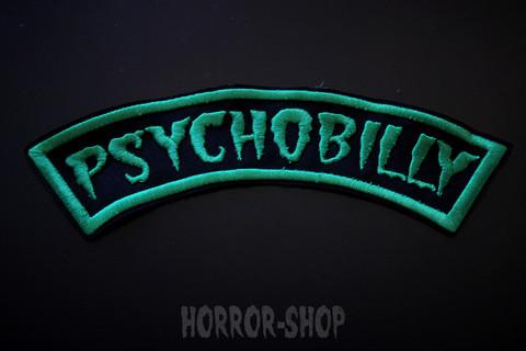 Psychobilly, vihreä kaarimerkki (iso, selkään)