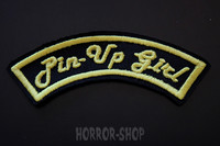 Pinup girl arch patch, yellow