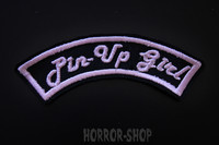 Pinup girl arch patch, pink