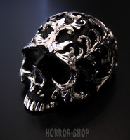 Silver plated skull