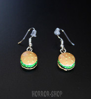 Cheese burger earrings, pair