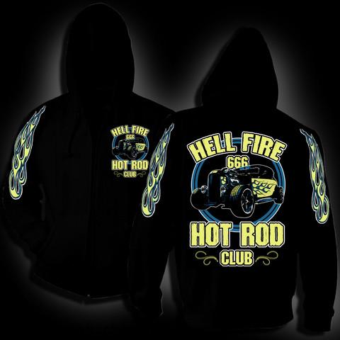 Hellfire Hot Rod Club -hoodie
