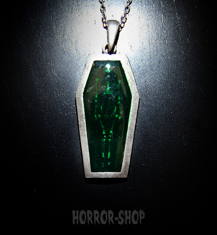 Coffin of the green vampire neclace