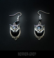 Black Moon Vampire bat earrrings