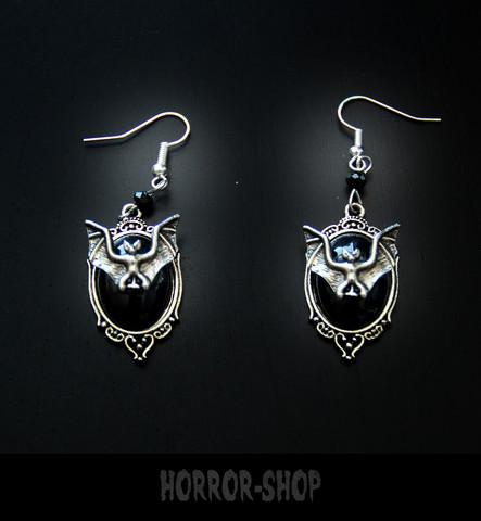 Black Moon Vampire bat earrrings